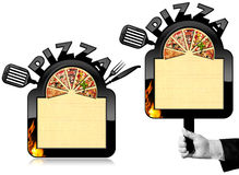 Banner for Pizza Menu Royalty Free Stock Image