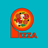 Banner for pizzeria Royalty Free Stock Photography