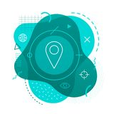 Pin icon on modern background royalty free illustration