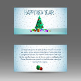 Banner 2017 with polygonal Christmas tree Stock Photos