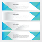 Banner polygons design   blue color. Vector design eps10 Stock Images
