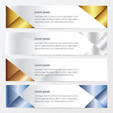 Banner polygons design   gold, bronze, silver, blue color. Vectors design eps10 Royalty Free Stock Photos