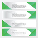Banner polygons design green color. Vector design eps10 Stock Photo