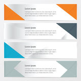 Banner polygons design   Orange , blue, gray color. Vector design eps10 Stock Photos