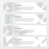 Banner polygons design   white color. Vector design eps10 Stock Photography