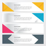 Banner polygons design yellow, blue, pink color. Vector design eps10 Royalty Free Stock Photography