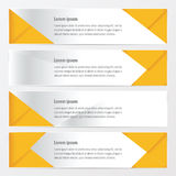 Banner polygons design  yellow color. Vector design eps10 Stock Photo