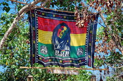 Banner with  portrait of Bob Marley Royalty Free Stock Image