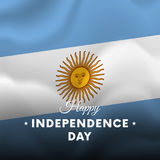 Banner or poster of Argentina independence day celebration. flag. Vector. Stock Image