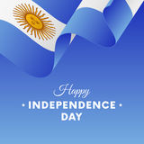 Banner or poster of Argentina independence day celebration. flag. Vector illustration. Royalty Free Stock Photos