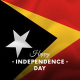 Banner or poster of East Timor independence day celebration. flag. Vector illustration. Stock Image