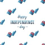 Banner or poster of Fiji independence day celebration. Seamless pattern with waving flag. Fiji flag. Vector illustration. Banner or poster of Fiji independence Royalty Free Stock Photos