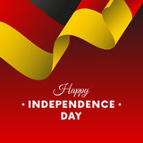 Banner or poster of Germany independence day celebration. Waving flag. Vector. Banner or poster of Germany independence day celebration. Waving flag. Vector Stock Photos