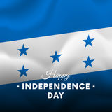 Banner or poster of Honduras independence day celebration. Waving flag. Vector. Stock Images