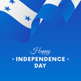 Banner or poster of Honduras independence day celebration. Waving flag. Vector illustration. Stock Photography