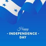 Banner or poster of Honduras independence day celebration. Waving flag. Vector illustration. Banner or poster of Honduras independence day celebration. Waving royalty free illustration