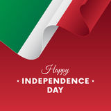 Banner or poster of Italy independence day celebration. Waving flag. Vector illustration. Royalty Free Stock Photos