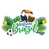 Banner, poster, sign, invitation Welcome to Brazil. Stock Image