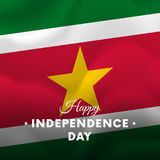 Banner or poster of Suriname independence day celebration.  Royalty Free Stock Photography