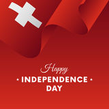 Banner or poster of Switzerland independence day celebration. flag. Vector illustration. Royalty Free Stock Images