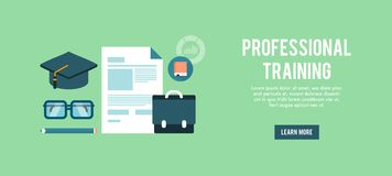 Banner for professional training Royalty Free Stock Photos