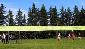 Banner Promoting Public Transportation Royalty Free Stock Photos