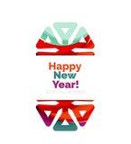 Banner pubblicitario geometrico di Natale Fotografie Stock