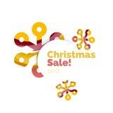Banner pubblicitario geometrico di vendita o di promozione di Natale Immagini Stock Libere da Diritti