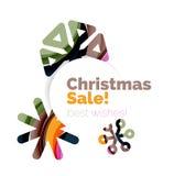 Banner pubblicitario geometrico di vendita o di promozione di Natale Fotografie Stock Libere da Diritti