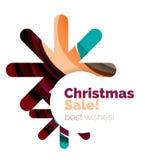 Banner pubblicitario geometrico di vendita o di promozione di Natale Fotografie Stock