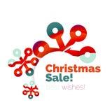 Banner pubblicitario geometrico di vendita o di promozione di Natale Fotografia Stock