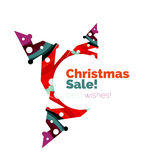 Banner pubblicitario geometrico di vendita o di promozione di Natale Immagini Stock