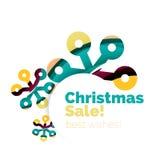 Banner pubblicitario geometrico di vendita o di promozione di Natale Immagine Stock Libera da Diritti
