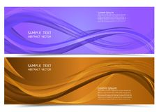 Banner purple and orange color geometric abstract background with copy space, Vector illustration for your business.  Royalty Free Illustration