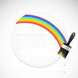 Banner with rainbow brush Stock Image