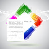 Banner with rainbow colored shape Royalty Free Stock Images