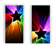 Banner with rainbow rays Royalty Free Stock Image