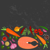 Banner of Raw food Royalty Free Stock Photography