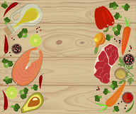 Banner of Raw food Stock Photo