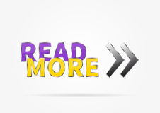 Banner Read More vector illustration Royalty Free Stock Photos