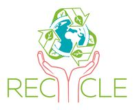 Banner about recycle hands Stock Photo