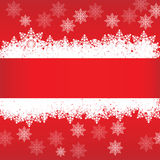 Banner in red color. Christmas banner with place for text Stock Photos