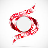 Banner with red ribbons Royalty Free Stock Photography