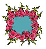 Banner of red roses. Stock Photo