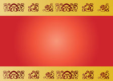 Banner in red with transparencies Royalty Free Stock Photography