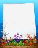 Banner and reef Stock Image