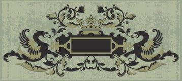 banner retro roczne Obrazy Stock