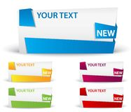 Banner with ribbon. big space for your advertising Stock Photos