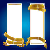 Banner with ribbon 004 Stock Photo