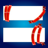 Banner with ribbon 001 Royalty Free Stock Photo